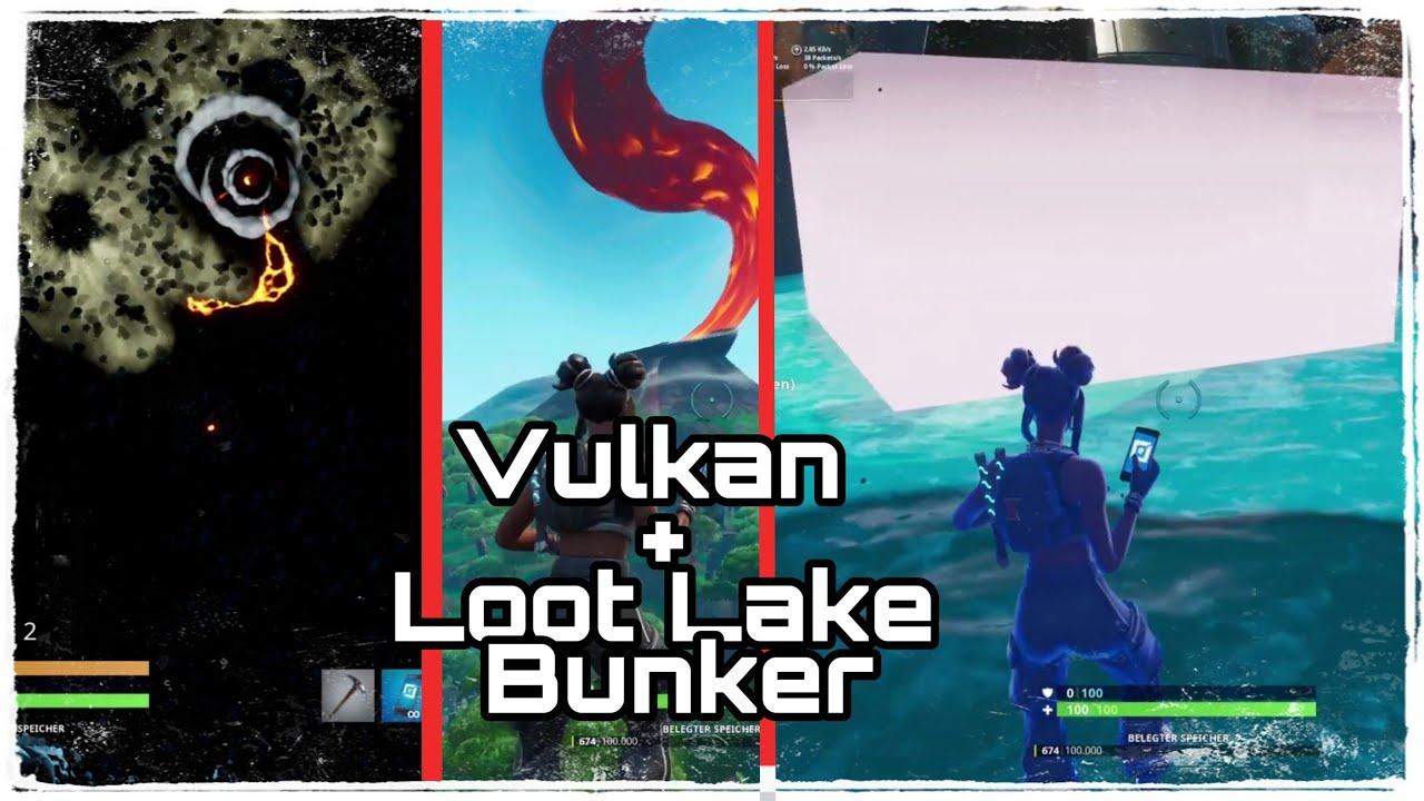 vulkan ausbruch loot lake bunker von innen fortnite battle royale deutsch itzjustyannik - vulkan fortnite ausbruch