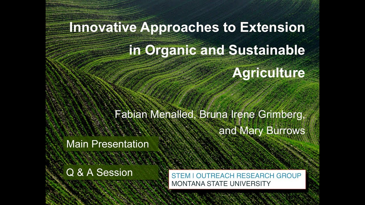 Innovative Approaches to Extension in Organic and