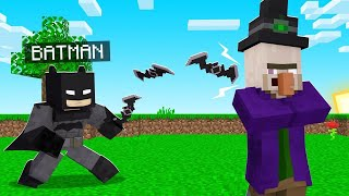 Playing Minecraft AS BATMAN! (strongest superhero)