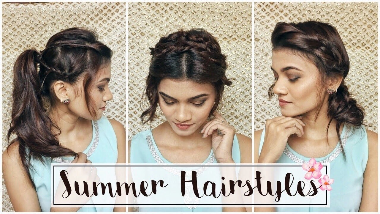 3 Easy Cute Summer Hairstyles For Short Medium Hair Shreeja