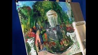 """Уроки рисования (№ 150). Рисуем картину """"В Екатерининском парке"""" - картина в картине"""