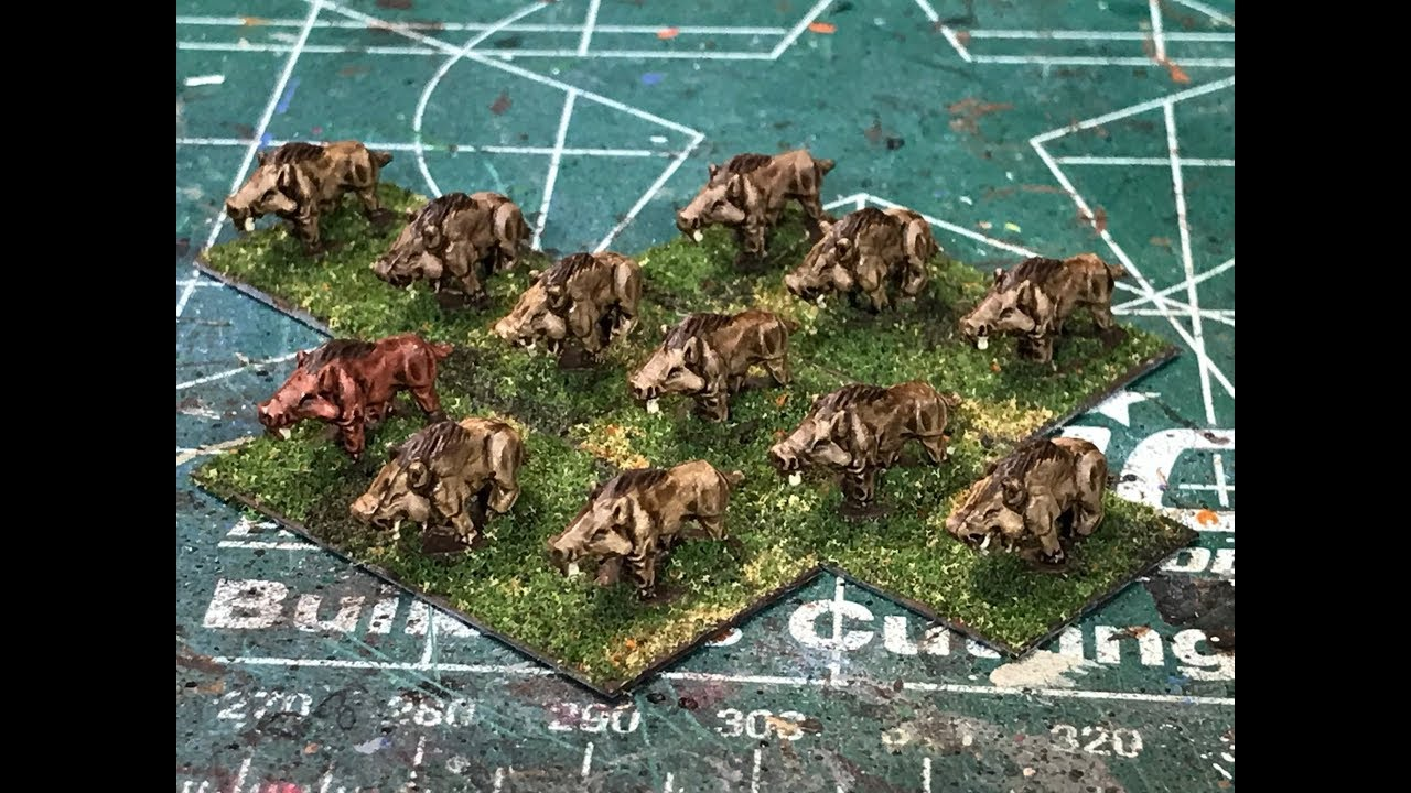 6mm Fantasy - Painting Dire Boars from Microworld Games