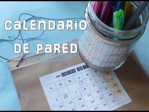Calendarios 2015 parte 2: Calendario de pared [manualidad fácil para niños]