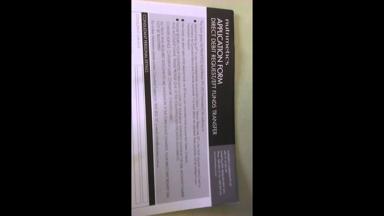 Direct debit form - YouTube - direct debit form