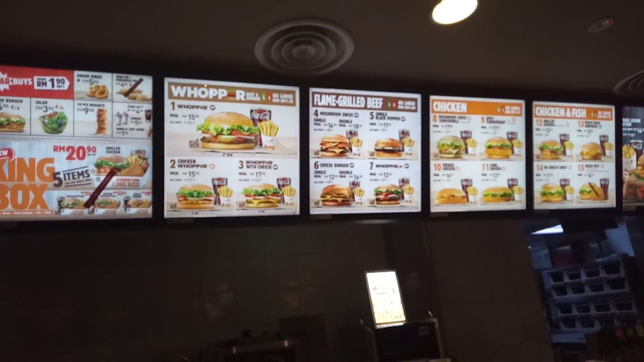 cv pour burger king