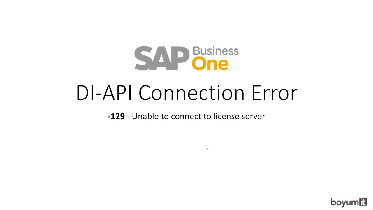 DI API Connection Error: -129 - Unable to connect to license server