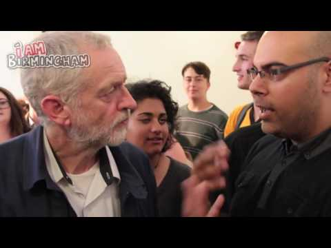 Jeremy Corbyn brings his Labour Leadership campaign to Birmingham