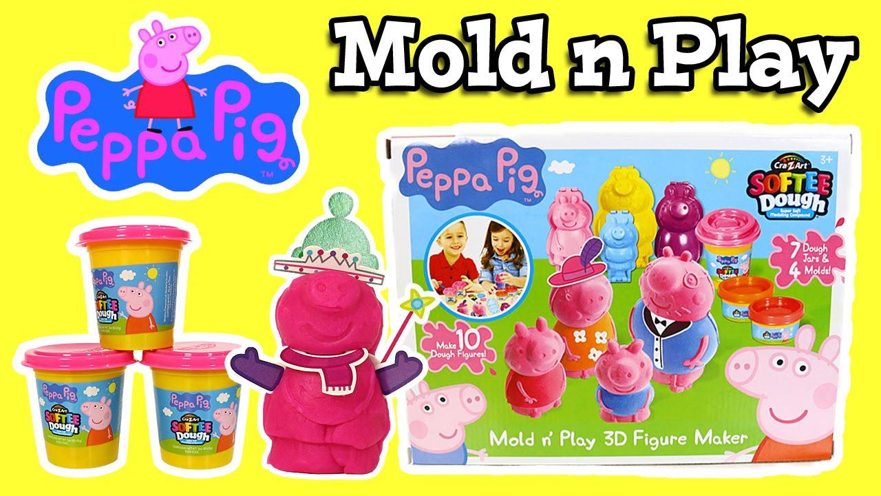 Peppa Pig Mold N Play 3d Figure Maker Cra Z Art Softee
