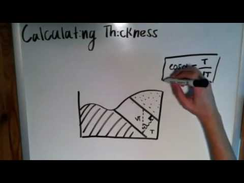 The Basics of Geology: Calculating Thickness