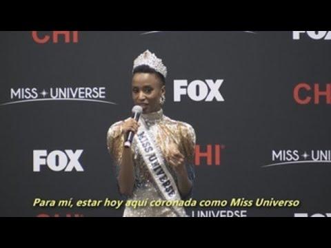 """Zozibini  Tunzi,  Miss Universo 2019: """"É unha honra representar á diversidade"""""""