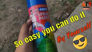How to Spray Paint Motorcycle Parts | Abro spray paint