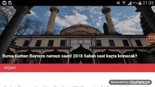 Bursa Bayram Namazı Saat Kaçta? 21 Ağustos 2018