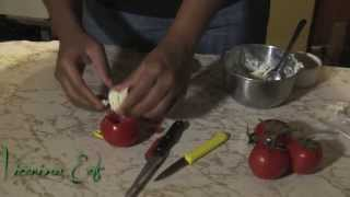 Vicarious Eats Show 13: Cucumber Carpaccio & Goat Cheese Stuffed Tomatoes