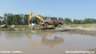 Red Ford Second Dam Jump Competition At Country Compound Mud Bog