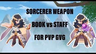 Book VS Staff Bolt/Mental Blast dmg test in PVP for Sorcerer Ragnarok M [ROM]