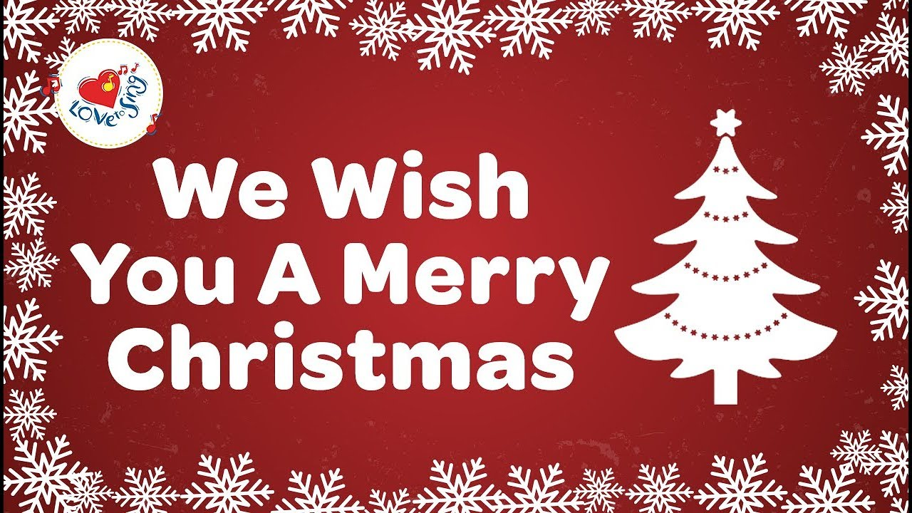 We Wish You A Merry Christmas With Lyrics Christmas Songs And Carols Hd Youtube