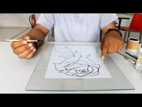 Video I Tutorial Melukis Diatas Kaca