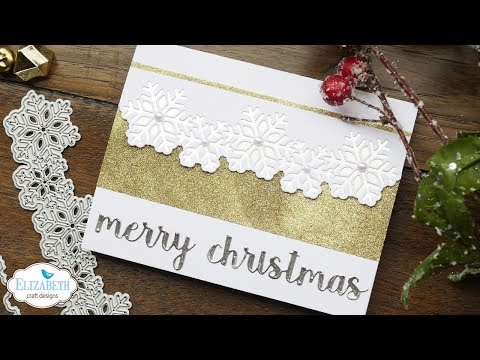 Snowflake Border Christmas Card | Technique Friday with Els