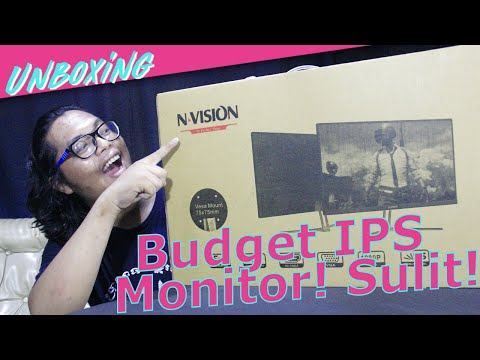 """NVISION IP24V1 Budget PC 24"""" IPS Monitor - Lems In The House! - Pinoy Unboxing"""