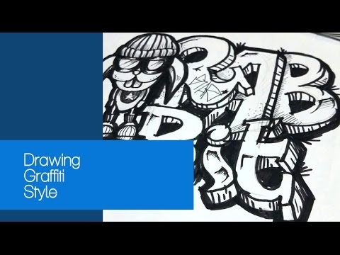 How To Draw Rabbit With Text In Graffiti Style