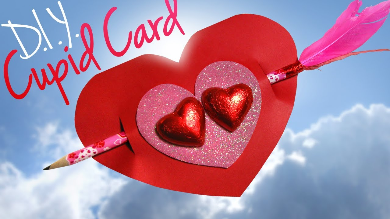 DIY Cupid Valentines Day Card Teacher Gift Ideas For Kids YouTube – Images for Valentine Day Cards