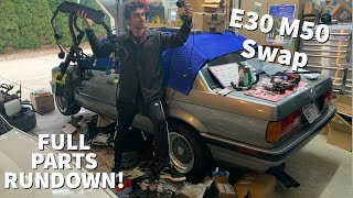 Everything you will need to M50/24V Swap your E30!!