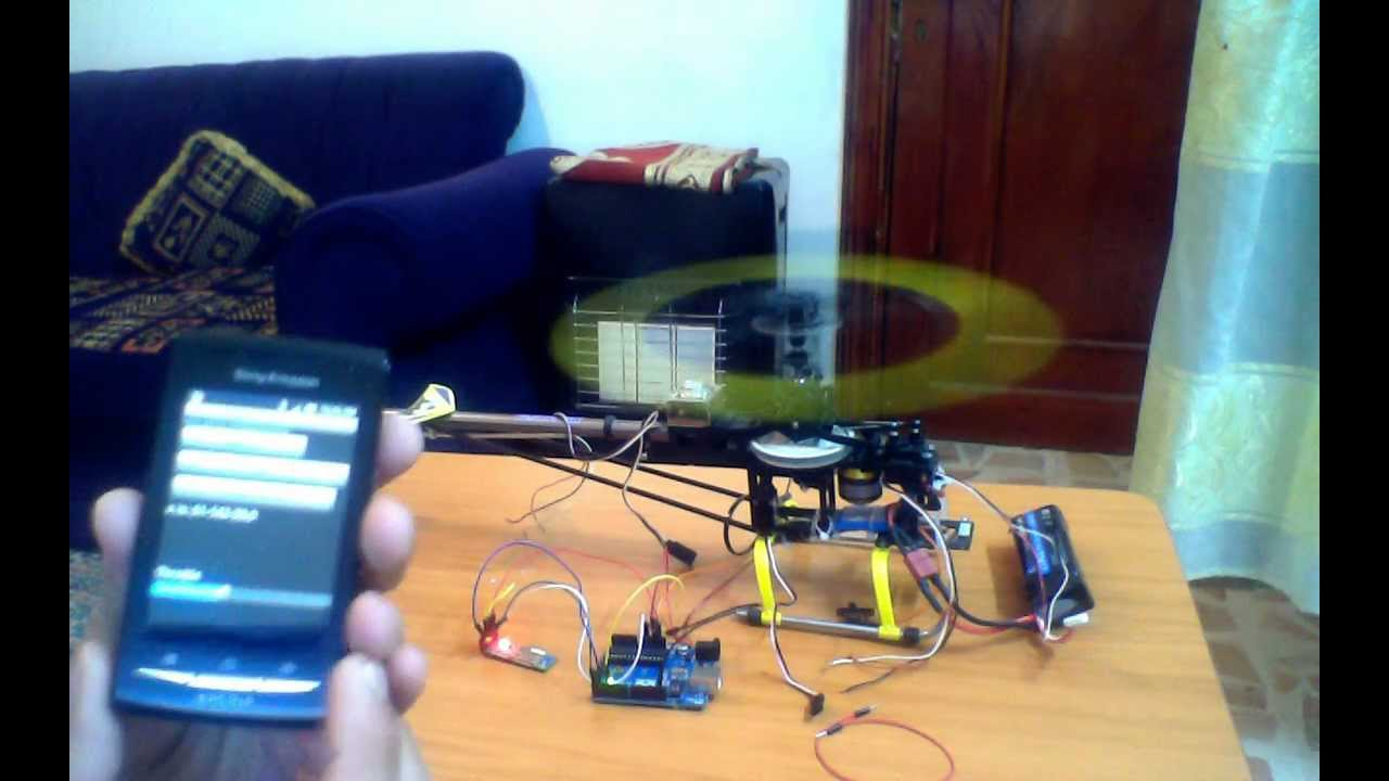 Controlling RC Helicopter using Android and Arduino