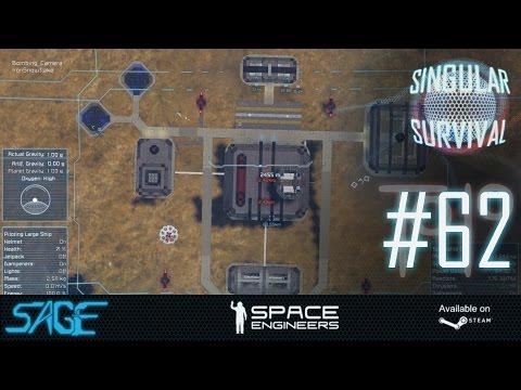 Space Engineers, The Air Bombing Battle! (Singular Survival, Ep 62)