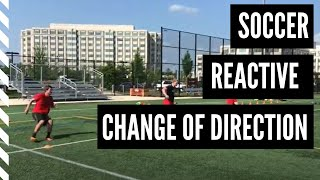 Soccer Speed and Agility: Reactive 2 Cone with focus on the T-Turn to Change Directions.
