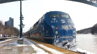 Metro-North: Three Hudson trains (with P32 # 225) in Spuyten Duvyil, NY RR