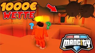 💰1.000€ WETTE | PYRAMIDEN HIDE AND SEEK - MAD CITY ROBLOX