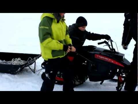 Снегоскутер Турист (мини-снегоход). Тест-драйв.
