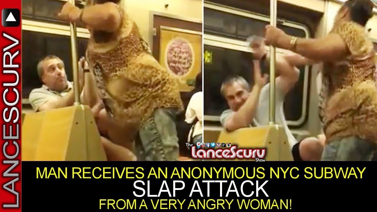 A WOMAN BEATS UP A MAN ON SUBWAY IN NEW YORK CITY! - The LanceScurv Show