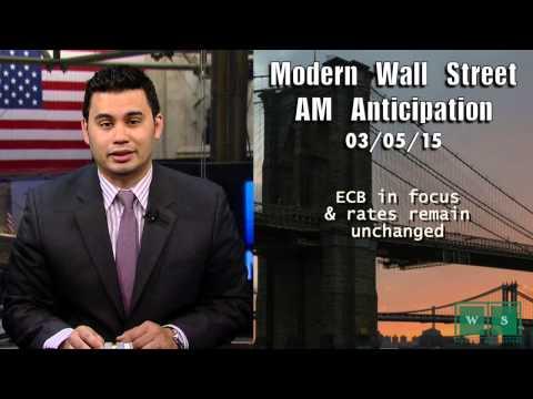 Modern Wall Street AM Anticipation: March 5, 2015