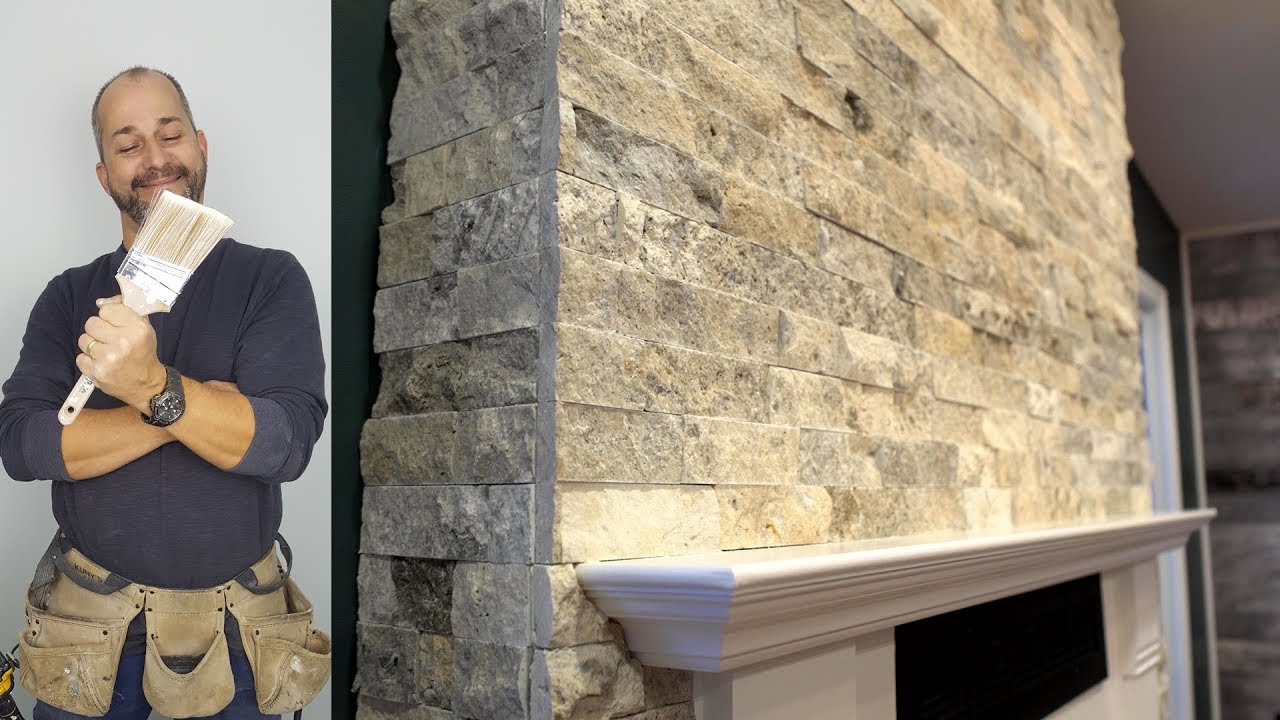 DIY How To Install Stone On Your Fireplace Easily