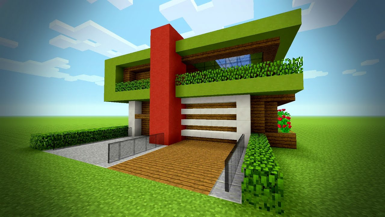 Minecraft Christmas Houses.Minecraft How To Build A Modern House Tutorial Big