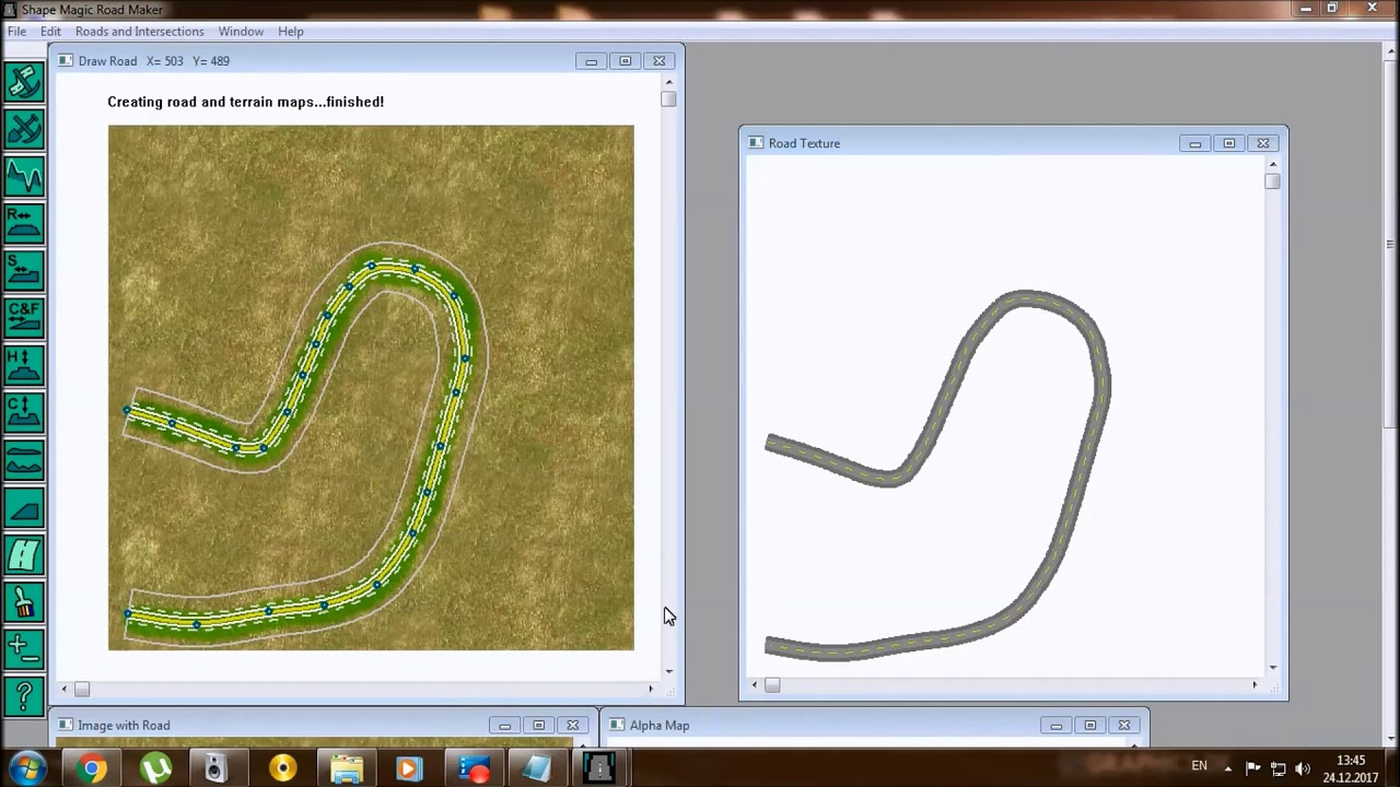 SketchUp   How to make the road on terrain for SketchUp