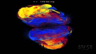 Asymmetric Supernova Remnants May Mark Black Holes | Simulation