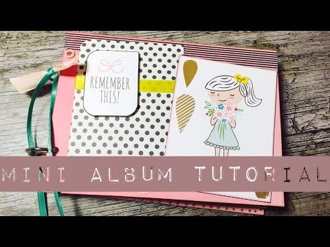 DIY Scrapbook MiniAlbum mit *Binderingen* [ tutorial | deutsch]