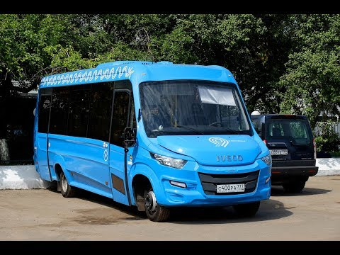 Поездка на микроавтобусе IVECO Daily (Нижегородец-VSN700) АР 861 99 Маршрут № 877 Москва