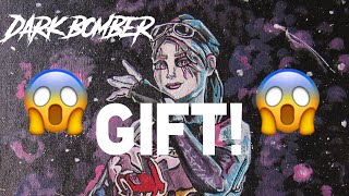 Gifted!!!! Painting Fortnite DARK BOMBER-Hyper Speed