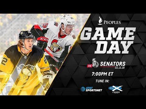 NHL 18 PS4. REGULAR SEASON 2017-2018: Ottawa SENATORS VS Pittsburgh PENGUINS. 02.13.2018. (NBCSN) !