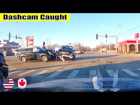 Ultimate North American Cars Driving Fails Compilation - 123 [Dash Cam Caught Video]