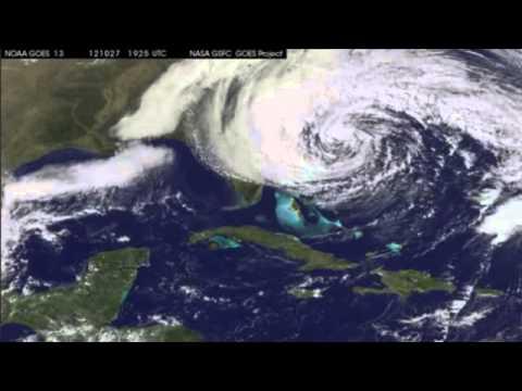Huracán Sandy animación de las observaciones de la NOAA satélite GOES-13 (26 a 28 octubre 2012)