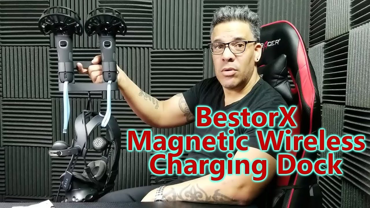 BestorX Magnetic Wireless Charging Dock for HTC Vive Review