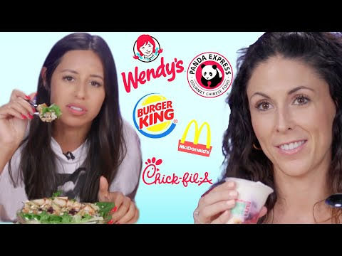 Trying the Healthiest Food from Every Fast Food Chain! (Cheat Day)