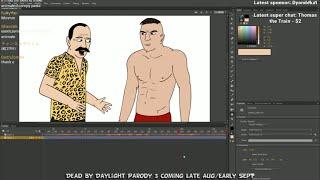 Animating Dead By Daylight Parody 3 LIVE #2