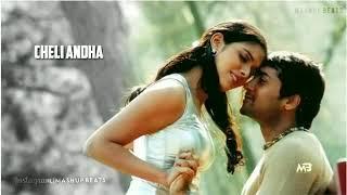 Hrudayam Ekkadunnadi With Lyrics Love❤😘Song || Whatsapp Status || Ghajini || Mashup Beats🎧||