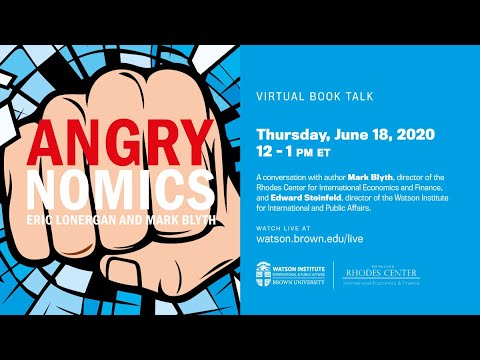 Mark Blyth: Angrynomics ─ Virtual Book Talk