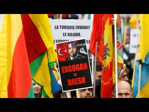 آلاف المتظاهرين بعدة مدن في فرنسا والعالم دعما للأكراد وتنديدا بالهجوم التركي في سوريا  - 10:54-2019 / 10 / 13